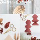 DIY Herbstliche Blättergirlande aus Papier