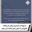 البحرين تسهيلات البحرين يعلن عن إيقاف القروض 6 أشهر بدون فائدة أو رسوم وقد جاء فــي البيان امتثالا لتعليمات مصرف البحرين المركزي سيتم تلقائيا تأجيل أقساط