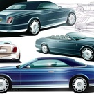 2005 Bentley Arnage Drophead Coupe Sketch by Crispin Marshfield