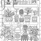 Plants - Printable Adult Coloring Page from Favoreads Coloring book pages for adults and kids Coloring sheets Coloring designs