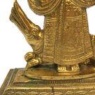 India Devi Goddess Mata Ganga Brass Statue Hinduism Ganga Ma Handcrafted Murti