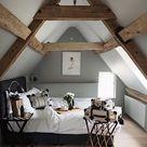 "Interior & Scandinavian Decor on Instagram: ""What a stunning attic bedroom via @siobhaise 👌🏻Love those beams! . #bedroom #bedroomdecor #nordichome #nordicinspiration"""