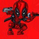 Deadpool Red Art IPhone Wallpaper - IPhone Wallpapers