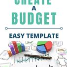 EASY Monthly Budget Template Spreadsheet