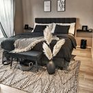 Yatak Odalarında Siyah Tonlar