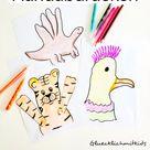 Tierbilder mit  Handabdrücken