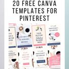 20 Beautiful Free Canva Templates for Pinterest