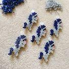 Pony Bead Pattern, Miyuki Brick Stitch Charm, PDF Digital Download - P2166009