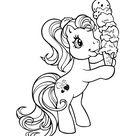 Coloriage Petit poney mangeant une glace - Mon Petit Poney