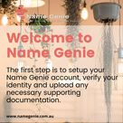 The first step is to setup your Name Genie account