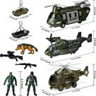 3 Pcs Helicopter Squadron Toy Set
