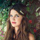Rose Leaves Goddess Crown - gold