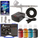 Master Airbrush Complete Cake Decorating Airbrush System Kit with Food Color Set, Air Compressor - Walmart.com