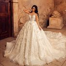 Sexy Sheer Ball Gown Bridal Wedding Dresses Dubai Style V Neck Long Wedding Dresses Church Flower La