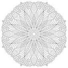 Outline Mandala for coloring book, anti-stress therapy pattern....