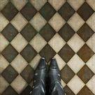 Vintage Vinyl Floorcloth Mats (Pattern 9 Checkmate)