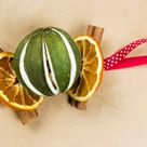 Set of 4 Dried Fruit Decorations