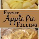 Freezer Apple Pie Filling | The Sparrow's Home