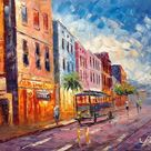 Streetcar Bus Sunset on King Street in Historic Charleston, South Carolina-KoKing FORT-k362