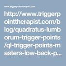 Quadratus Lumborum Trigger Points: Masters of Low Back Pain