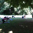 Outdoor Yoga Freedom Park Charlotte Nc Therapeutic Yoga Yoga Club Yoga Teacher Training