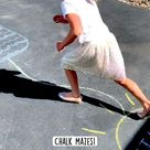 Chalk mazes! Favorite summer activity