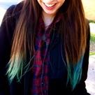 Blue Tips Hair