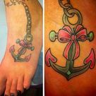 Anchor Bow Tattoos