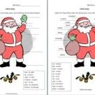 Spanish Christmas Papa Noel With Body Parts & Clothing   Navidad