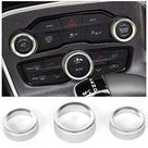 Voodonala for Challenger Charger Air Conditioner Switch CD Button Knob for Dodge Challenger Charger 2015-2019 - audio ring - silver