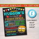 First Day Of School Sign - Personalized Printable DIY Template
