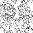 Día de los Muertos Calavera Collage