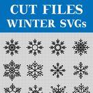12 Simple snowflakes cutting files, bundle SVG (1372265) | Cut Files | Design Bundles