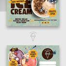 Ice Cream Postcard Templates