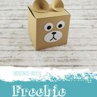 Plotter Freebie: Bärchen-Schachtel