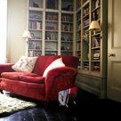 15 Wohnzimmer Ideen Rote Sofa