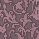 Floral Scrollwork Wallpaper in Purple design by BD Wall - 2