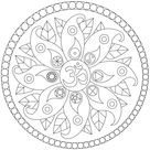Mandala with peace symbols - Mandalas Coloring Pages for Adults - Just Color