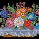 Floral Cross Stitch Pattern Flower Berlin Woolwork Summer | Etsy