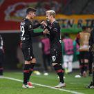 Kai Havertz of Bayer 04 Leverkusen is substituted for Julian Brandt...
