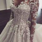Illusion Mermaid Bridal Gown Wedding Dress Sleeves