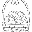 The Basket With A Bow Coloring Page