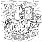 Pumpkin Halloween Pumpkin Cauldron Spooky Coloring Pages Printable