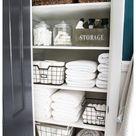 linen cupboard organization storage