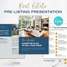 Real Estate Pre-Listing Presentation Packet , Real Estate Marketing, Listing, Seller Packet   Canva Instant Access