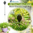 Hirundo Retractable Hook For Garden Baskets Pots, Birds Feeder