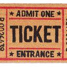 Wycieraczka Ticket Door Mat Entrance Retro
