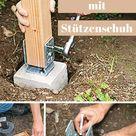 Zaunpfosten einbetonieren  | selbst.de