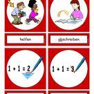 Flashcards Verben In der Schule 2 mittel