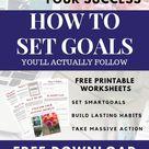 How to Set Goals You'll Actually Follow